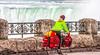 Touring cyclist viewing American side of Niagara Falls, NY-0586 - 72 ppi-3