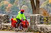 Touring cyclist viewing American side of Niagara Falls, NY-0391 - 72 ppi-2