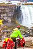 Touring cyclist viewing American side of Niagara Falls, NY-0414 - 72 ppi