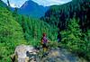 Cyclist in Washington state's North Cascades National Park - B wa cascades 9 - 72 dpi
