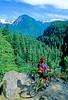 Cyclist in Washington state's North Cascades National Park - B wa cascades 5 - 72 dpi
