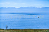 Cyclist at San Juan Island Nat  Historical Park, near Seattle - 2 - 72 ppi