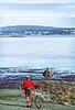 Cyclist at San Juan Island Nat  Historical Park, near Seattle - 5-2 - 72 ppi