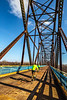 Cyclist(s) on US Bicycle Route 66, Chain of Rocks Bridge over Mississippi River between Missouri & Illinois - 72 ppi 30