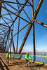 Cyclist(s) on US Bicycle Route 66, Chain of Rocks Bridge over Mississippi River between Missouri & Illinois - 72 ppi 19