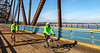 Cyclist(s) on US Bicycle Route 66, Chain of Rocks Bridge over Mississippi River between Missouri & Illinois - 72 ppi 20