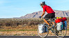 New Mexico - Southern Tier rider Randy Salvo on NM 187 north of Hatch - C1-0508 - 72 ppi-2