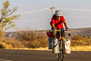 New Mexico - Southern Tier rider Randy Salvo on NM 187 north of Salem - C3-0129 - 72 ppi-3