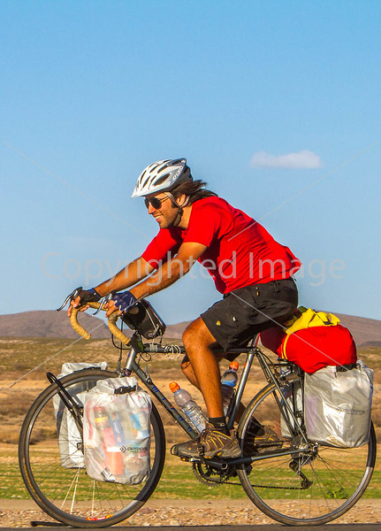 New Mexico - Southern Tier rider Randy Salvo on NM 187 north of Hatch - C1-0529 - 72 ppi-3