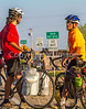New Mexico - Southern Tier rider Randy Salvo meets fellow cyclist in Salem - C1-0549 - 72 ppi-2