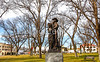 Texas - Statue in Ozona dedicated to state's pioneer families -  C8e-'08-3090 - 72 ppi