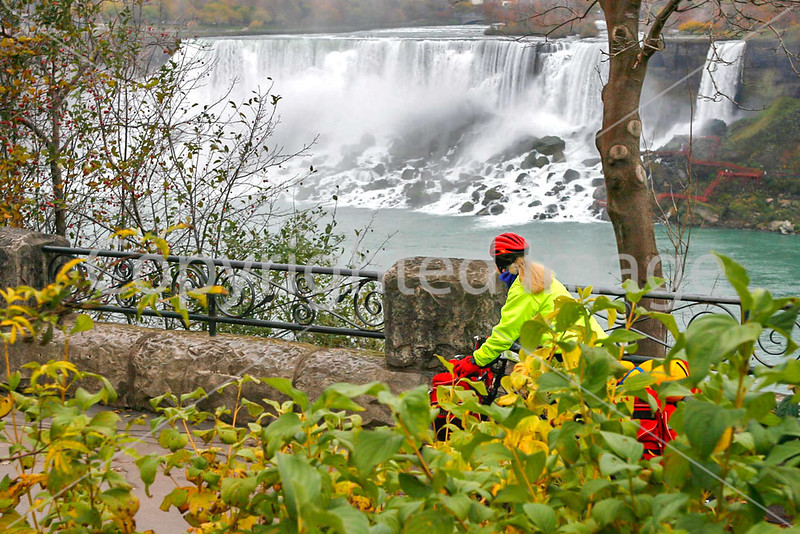 UGRR rider at Niagara Falls, final crossing point to freedom for many slaves traveling north