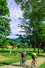 Cyclists at Calvin Coolidge Homestead at Plymouth Notch, Vermont - 6-Edit - 72 ppi