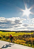 Biker on Confederate bank robbers' trail north of Enosburg Falls, VT-C2--0356 - 72 ppi