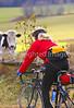 Biker on Confederate bank robbers' trail north of Enosburg Falls, VT-0298 - 72 ppi
