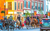 Confederate raiders on Main Street in downtown St  Albans, Vermont - C1-0265 - 72 ppi