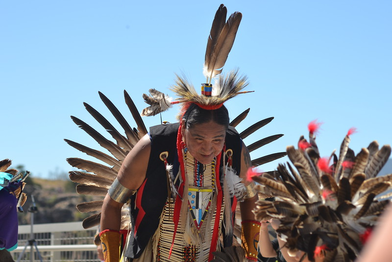 Members of the Northern Wind Dancers perform Saturday during the Royal Gorge Bridge & Park's nine-day Adventure Fest. Carie Canterbury/Daily Record 9-10-16