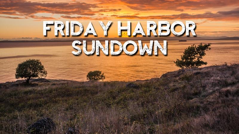 Friday Harbor Sundown Slideshow with Music