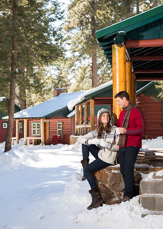 Couple Enjoys Romantic Winter Getaway.