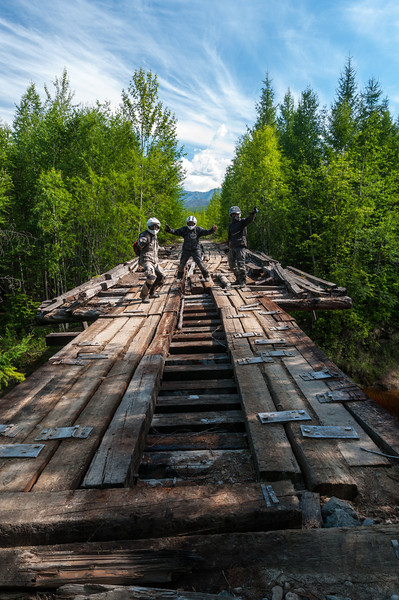 Inspecting a bridge along the Western BAM