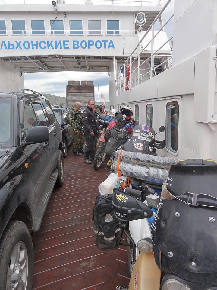 Olkhon Island ferry. Lake Baikal, Siberia, Russia