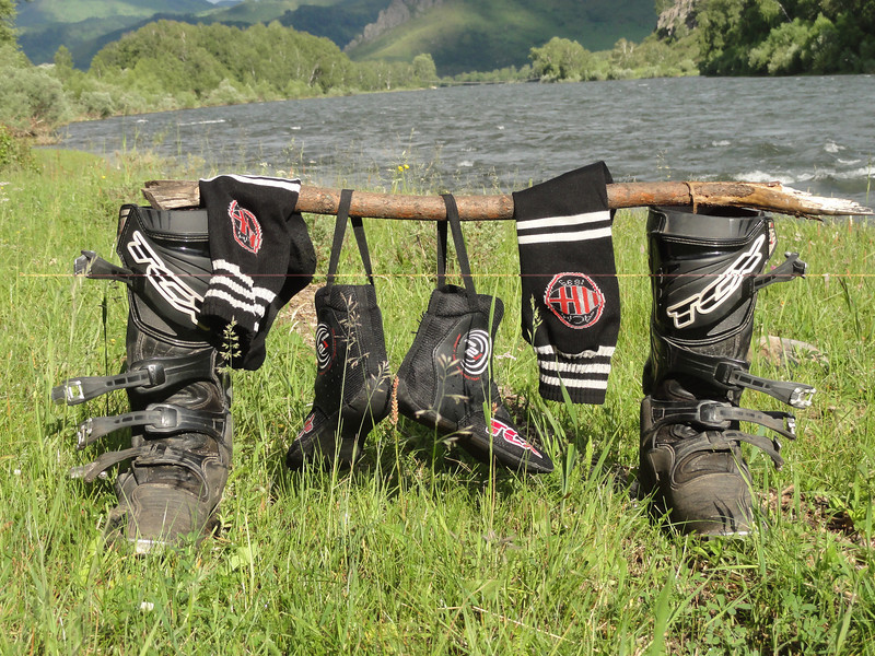 Boot drying in the Altai Republic