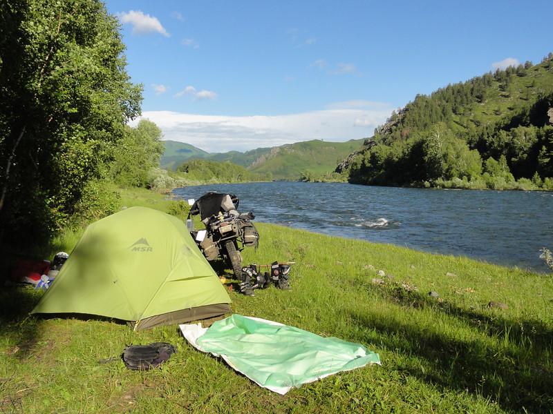 Altai camping east of Sentelek
