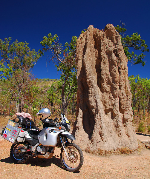 Giant termite mound.  Kakadu NP,  NT