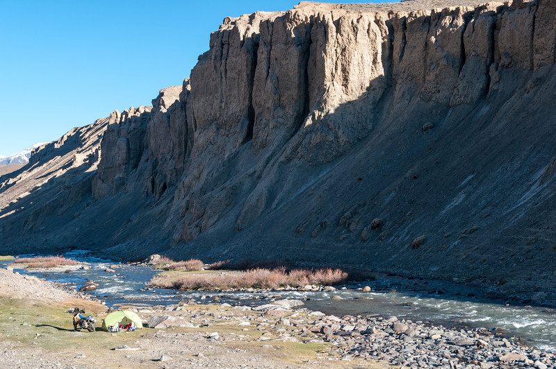 Camping in the Bartang Valley. Tajikistan