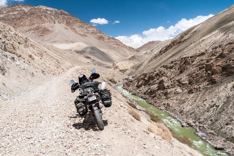 Pamir River. Langar - M41 Pamir Highway. Tajikistan