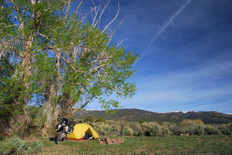 Bush camp, Monitor Range, Humboldt Toiyabe NF,  Nevada