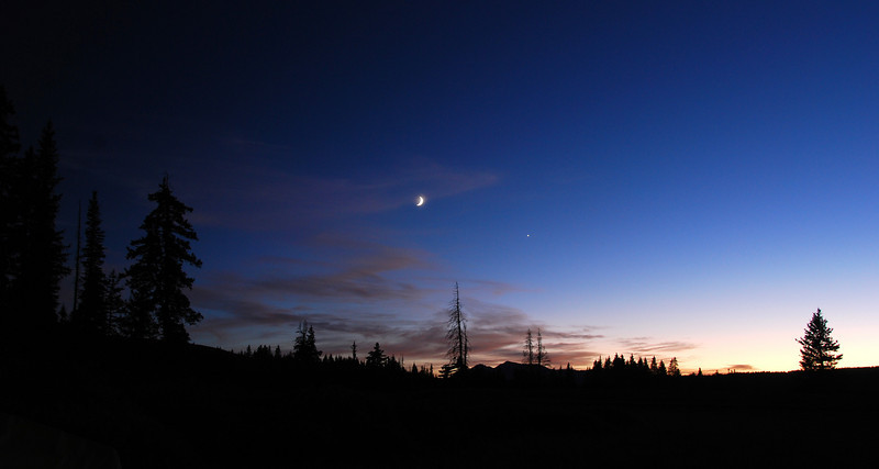 Nightfall. Rec Area camping on Lizard Head Pass,  SW of Telluride,  CO
