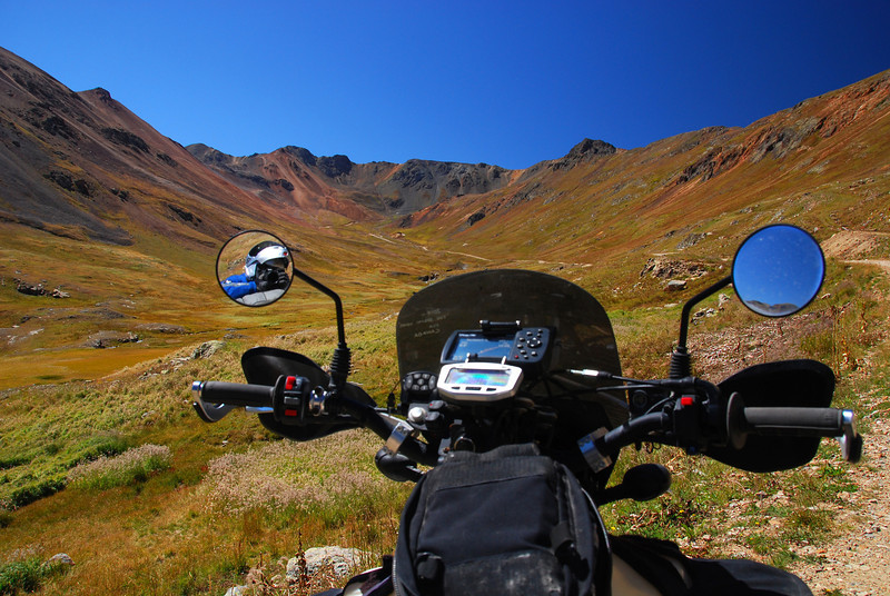 On the TAT riding away from Animas Forks,  CO