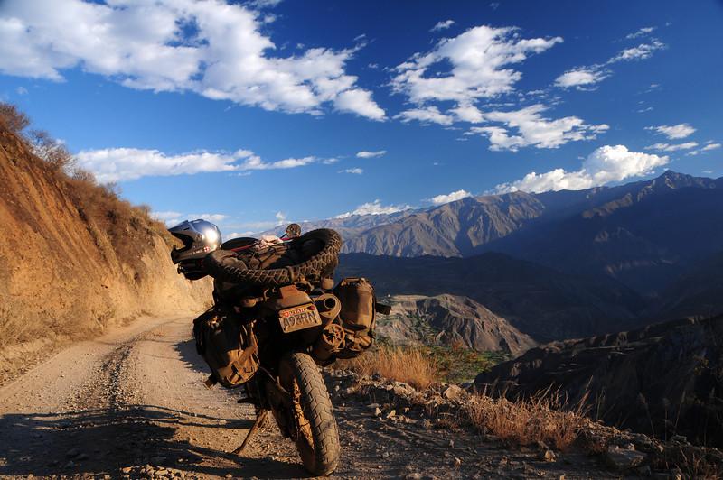 Ancos - La Pampa road. Peru.