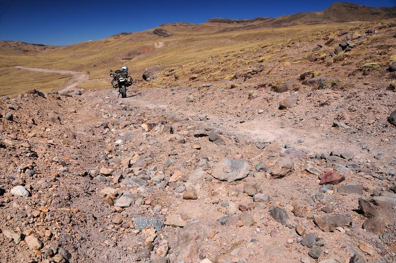 Cayarani - Suyckutambo - Caylloma road. Peru