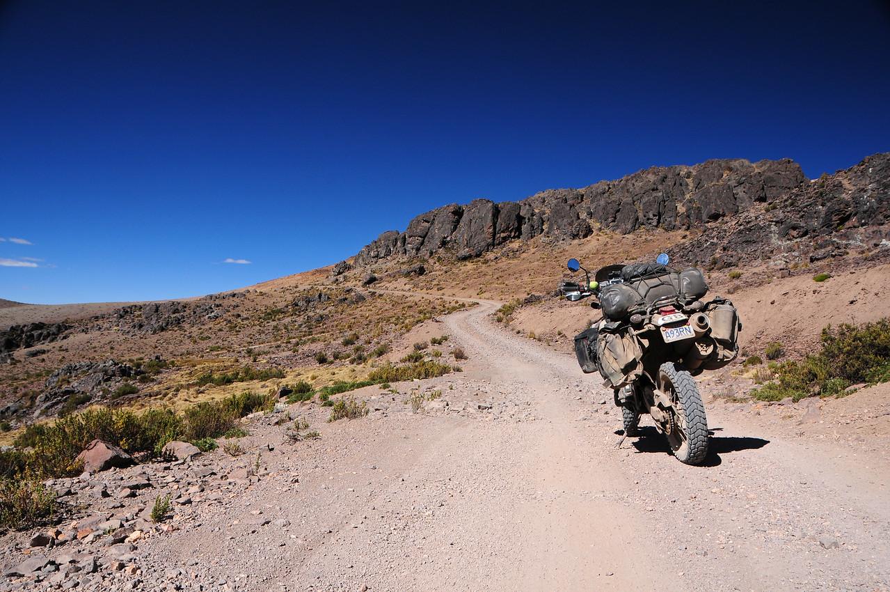 The road to the highest pass in Peru? Cayarani - Suyckutambo - Caylloma road