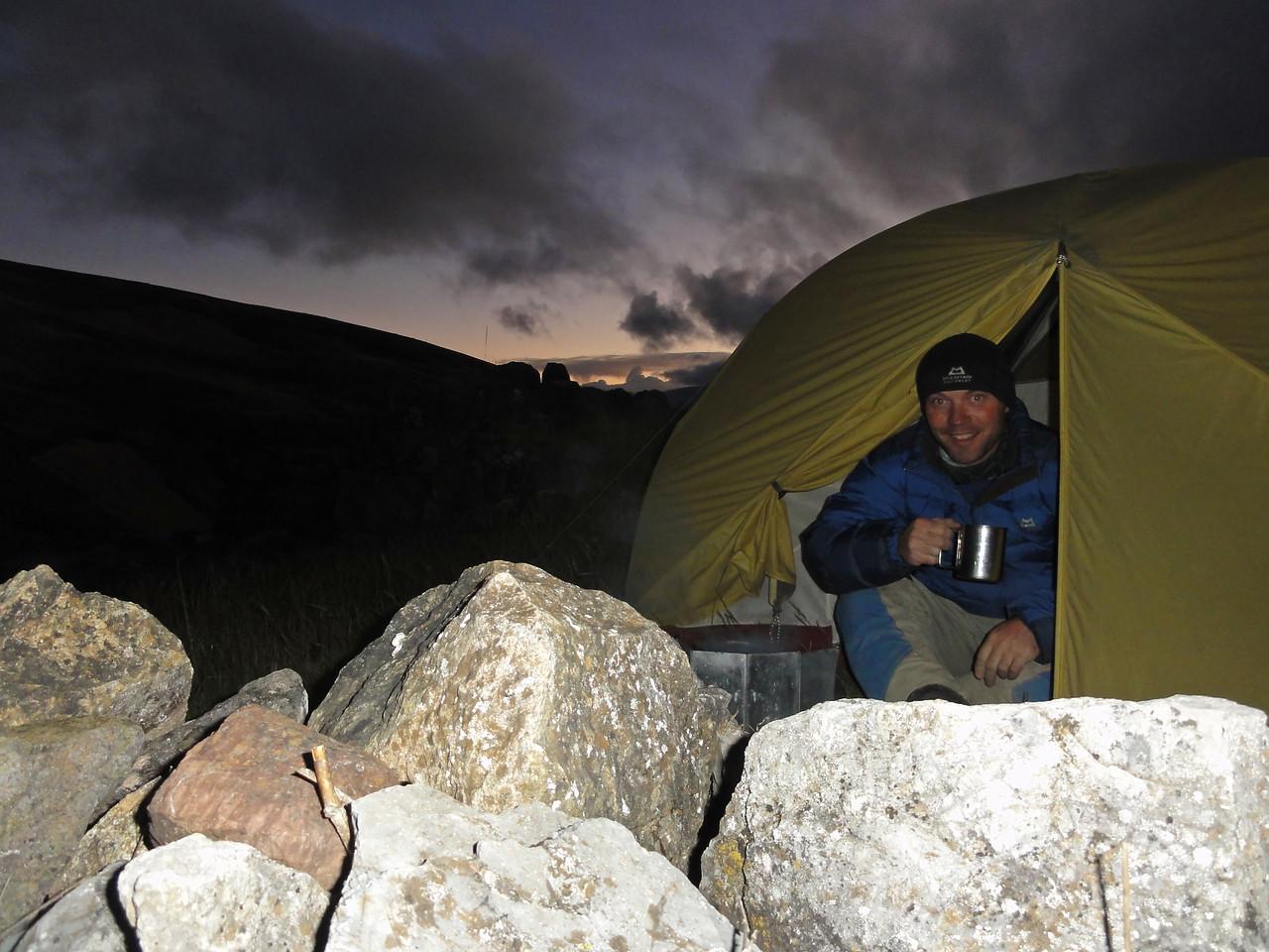 Camping at Sondor Ruins, near Lago Pacucha,  Peru