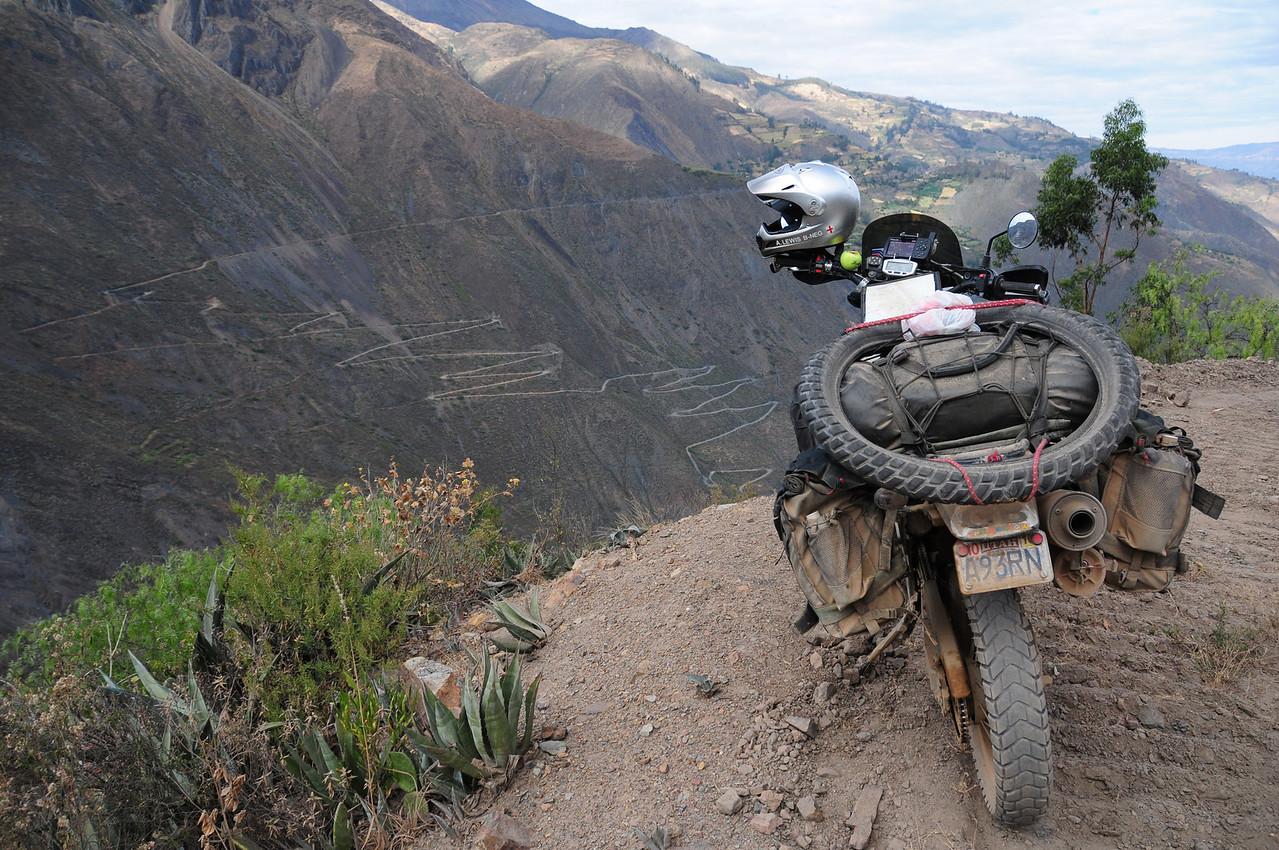 Overlooking Tablachacha. Angasmarca - Pallasca Road, Peru.