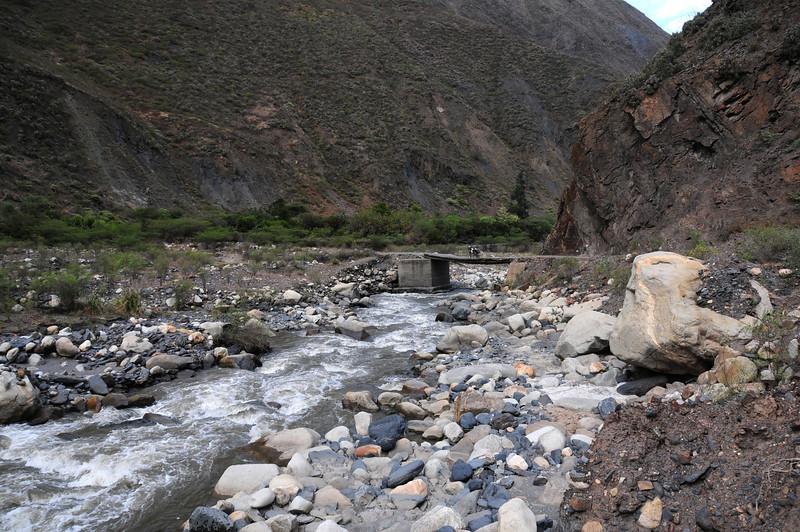 Puente Tablachacha. Angasmarca - Pallasca Road, Peru.