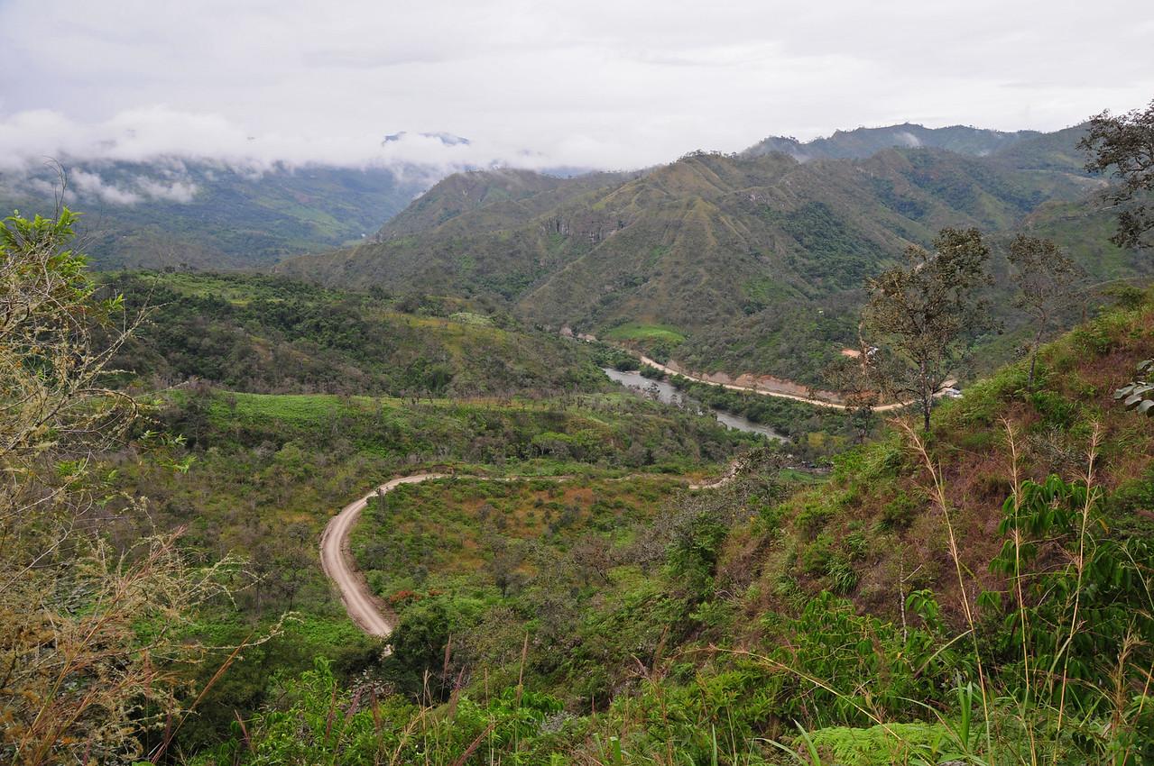 Zumba (Ecuador) to the Peruvian border. The river marks the border.