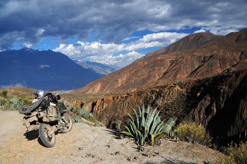 Ancos - La Pampa road nr Yupan. Peru.
