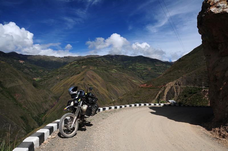 AM-111.  Road  to Kuelap pre-Inca ruins. Peru.