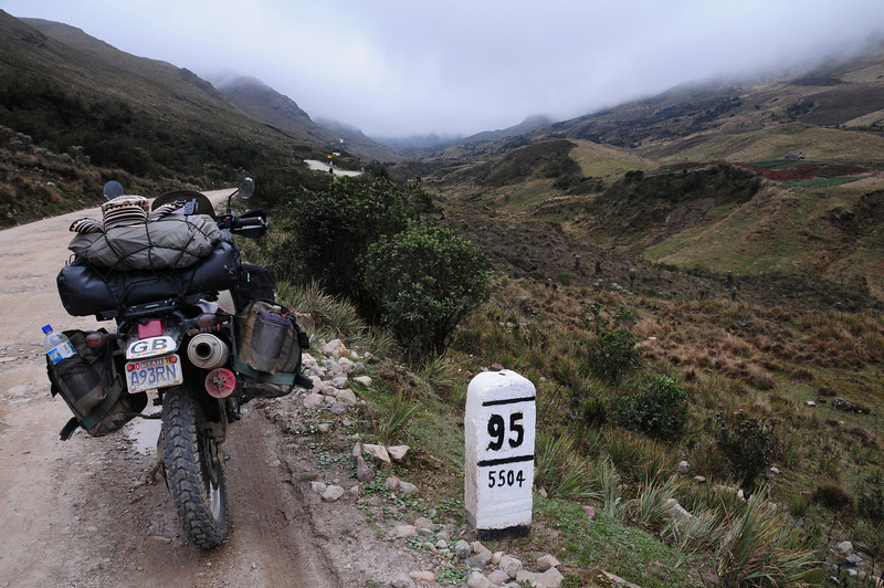 Pamplona to Malaga road (Rte5504).  Colombia.