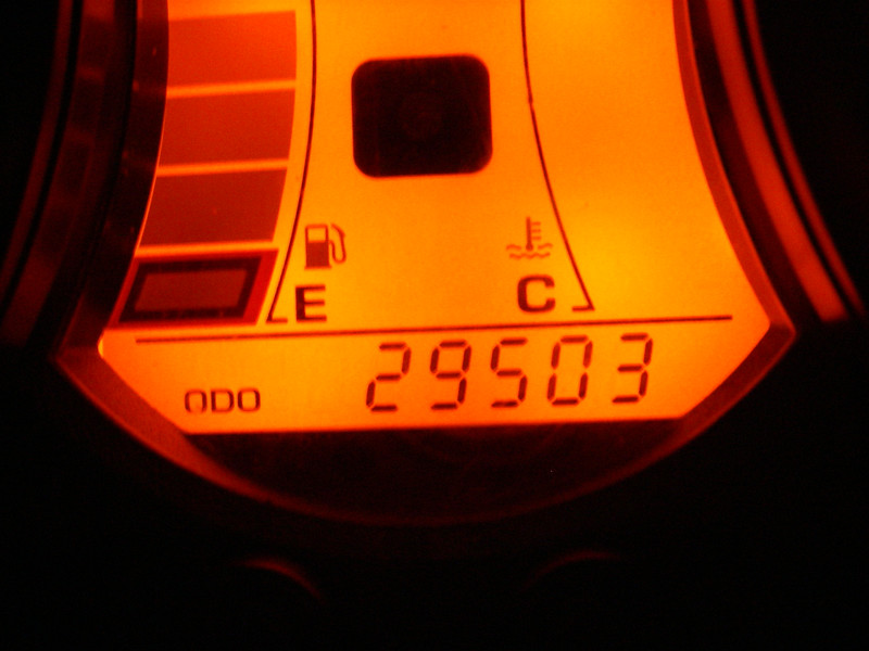 Beginning mileage for this trip...