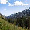 Hiking trail in the Ansel Adams wilderness in the Sierra Nevada in fall