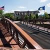 Steel bridge over erie canal in Fairport, New York