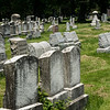 Rows of well kept grave stones in Rochester New York