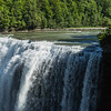 Waterfall in Letchworth park in summer, upstate New York
