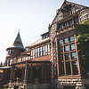 Beautiful Victorian mansion with surrounding gardens in upstate New York