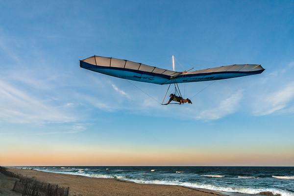 Adventure Photography | Nags Head | Soaring Into the Sunset